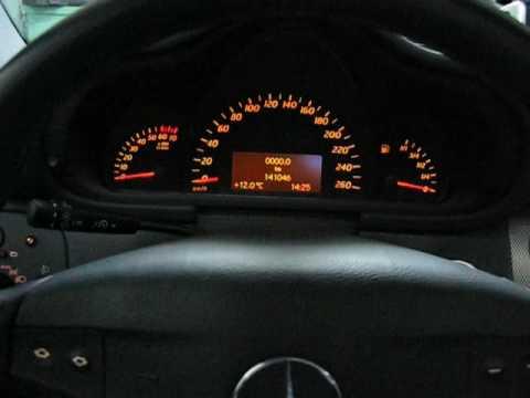 Mercedes w203 39 02 service mode computer esp off youtube for Esp mercedes benz