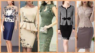 Most tranding 2019 daily work wear women elegant two peace dress skert with jacket dress slimfit drs