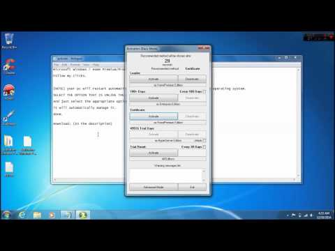 [How-To] Tutorial: PERMANENT Activate Microsoft Windows 7 All Home Premium / Professional / Ultimate