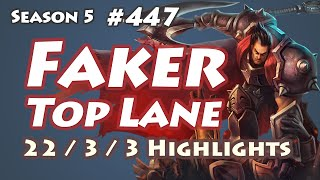 SKT T1 Faker - Darius vs Karthus - Jin Air TrAce, KR LOL SoloQ Highlights