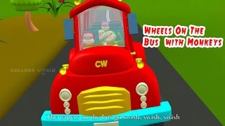 The Wheels On The Bus Go Round And Round||Latest Version || Popular Rhymes