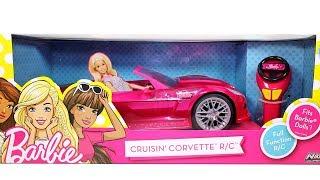 Barbie Crusin' Corvette RC Car Unboxing Toy Review
