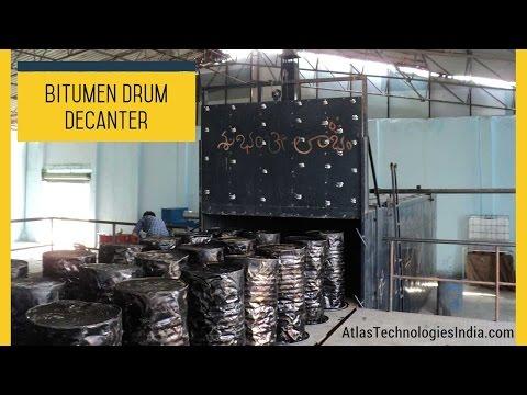 Asphalt melting equipment | Bitumen drum heater