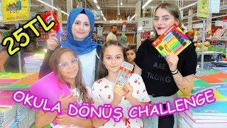 25 TL ile OKULA DÖNÜŞ YARIŞMASI ! (Fenomen Tv ile Carrefour ve Migros'ta) - Eğlenceli Çocuk Videosu