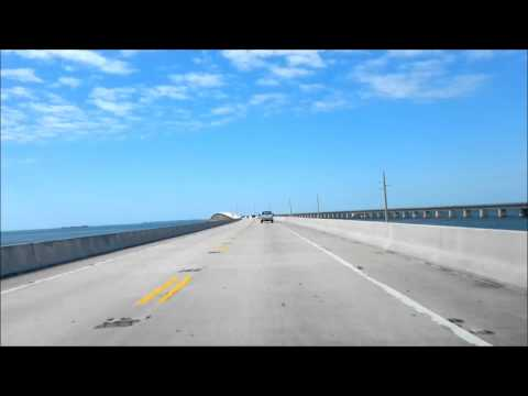 Overseas highway - the 7 mile bridge to Key West, Florida Keys