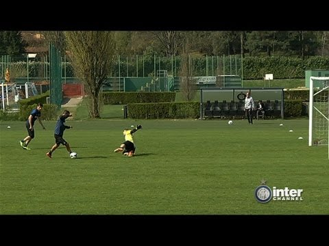 ALLENAMENTO INTER REAL AUDIO 01 04 2014
