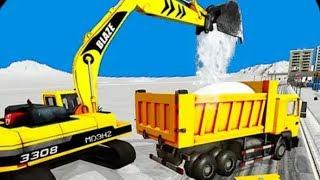 trò chơi lái xe máy xúc xe ma múc xe máy ủi xe ôtô chở tuyết, Snow Excavator Crane Simulator