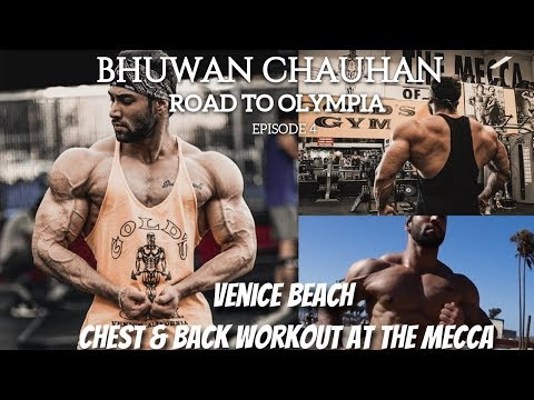 Road to Olympia Ep. 4 | Chest & Back Workout at The Mecca | Day at Venice Beach