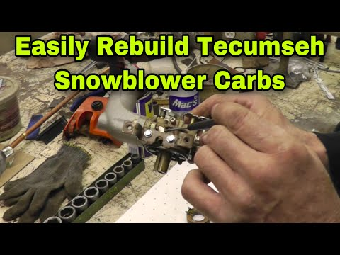 How To Rebuild Tecumseh Snow Blower Carburetors with Taryl
