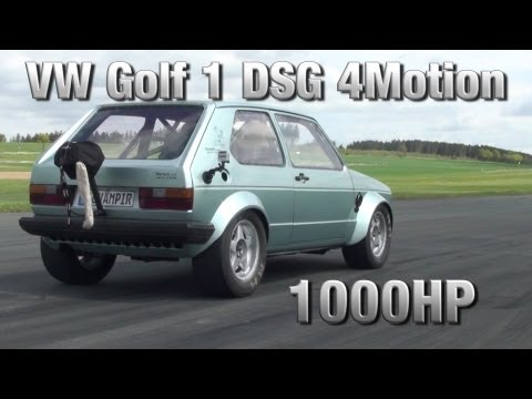 16Vampir VW Golf MK1 1000HP DSG 4Motion first test