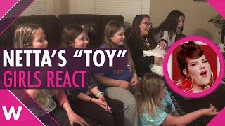"""Preteens girls react to """"Toy"""" by Netta (Israel Eurovision 2018)"""
