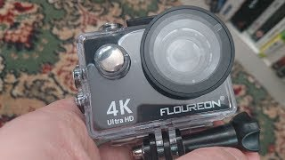 FLOUREON 4K Ultra HD WiFi Action Camera  with Remote Review