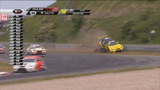 TCR Benelux & Europe & Swiss Trophy 2018. Race 2 Circuit Park Zandvoort. Stian Paulsen Crash