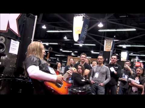 Rich Ward of Fozzy/Stuck Mojo's 2010 NAMM Show Performance at the Krank Booth