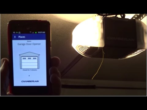 Review of the Chamberlain HD930EV smart phone controllable garage door opener
