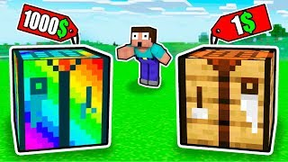 NOOB Sold This RAINBOW CRAFTING TABLE For 1000$ vs SIMPLE CRAFTING TABLE FOR 1$!