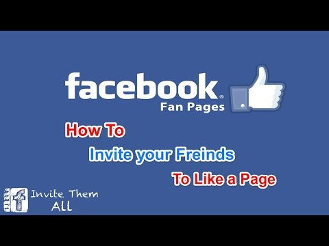 How to Invite your friends to like a Page on Facebook