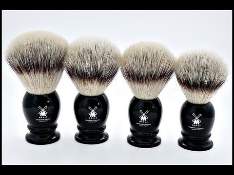 Making lather with the new Muhle Silvertip Fibre shaving brushes.