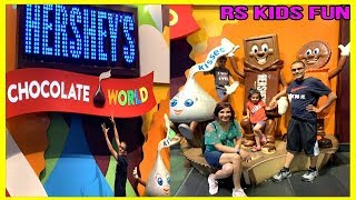 Family fun tour at Hershey's Chocolate Factory with RS Kids|Hershey's Chocolate World RS Kids Fun