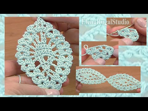 Lacy Crochet Stitches Youtube : ... Pineapple Stitch Lace Tape Tutorial 14 Crochet Lace Pattern - YouTube