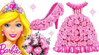 Play Doh Glamorous Pink Dress & Sparkle Shoes For Barbie Princess