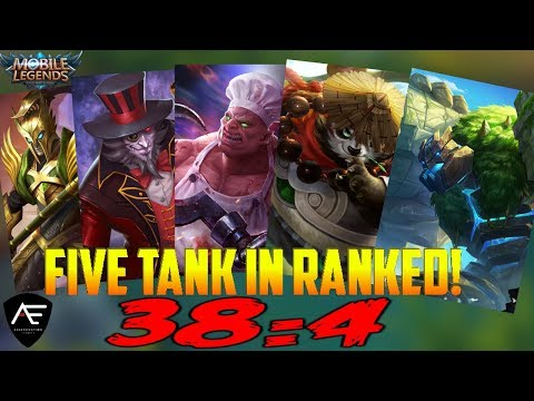 DOMINATE wth 5 TANKS IN RANKED - GLORIOUS LEGEND! MOBILE LEGENDS ALPHA RANKED GAMEPLAY