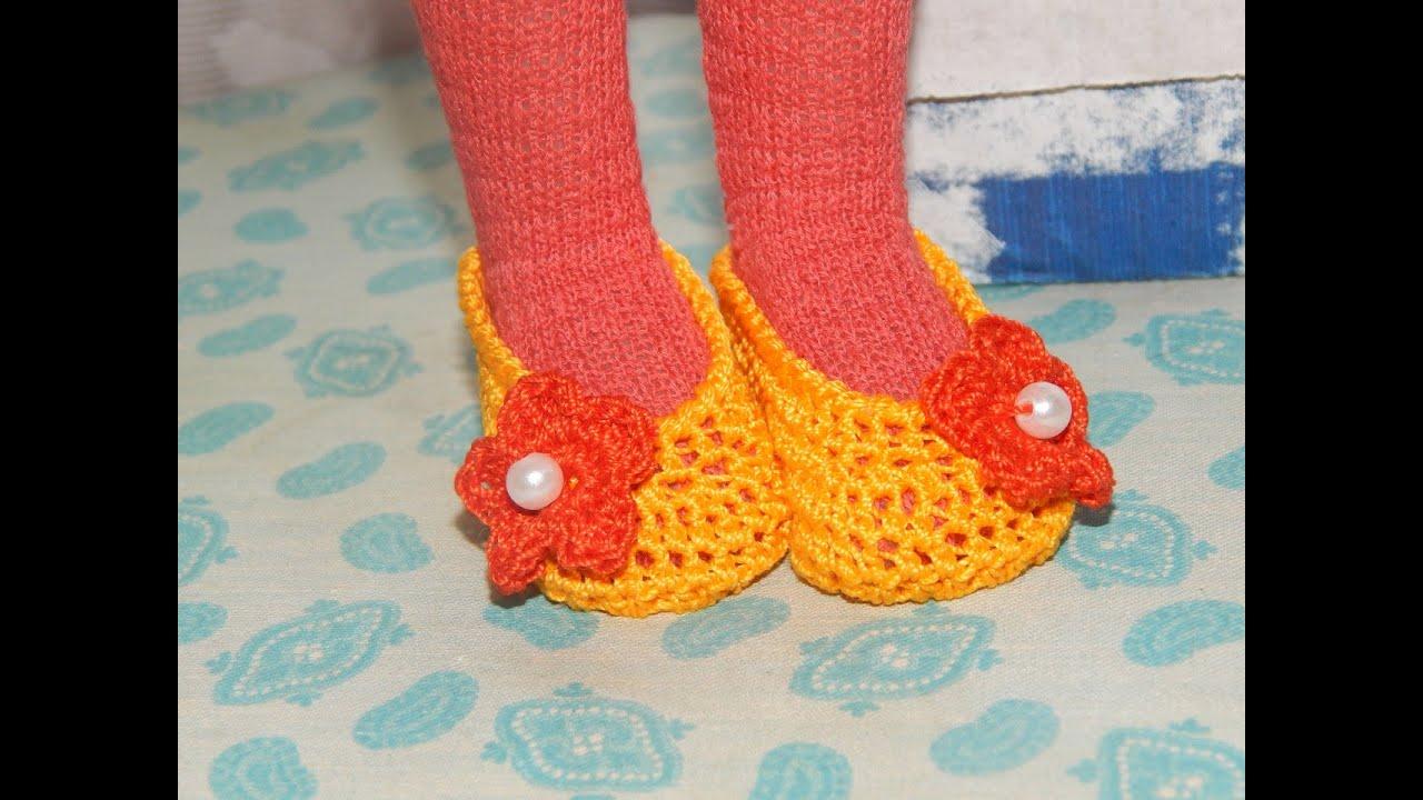 Вязаные спицами туфельки для малышек Ежевика - Modnoe 100