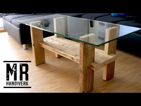 Diy Stabilen Couchtisch Aus Holzkisten Mit Glasplatte Einfach