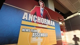 "Will Ferrell Visits ""Anchorman: The Exhibit"""