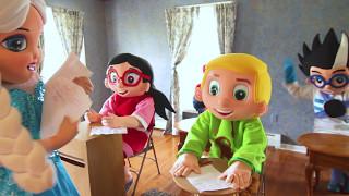 Superhero School Math Test In Real Life - Paw Patrol Rubble, Trolls IRL