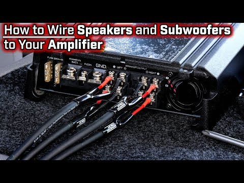 How To Wire Speakers and Subwoofers to Your Amplifier - 2, 3, 4 and 5 Channel - Bridged Mode thumbnail