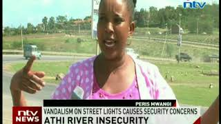 Street lights vandalised in Athi River as residents decry insecurity