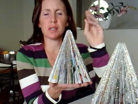 Christmas Craft - Magazine Christmas Tree