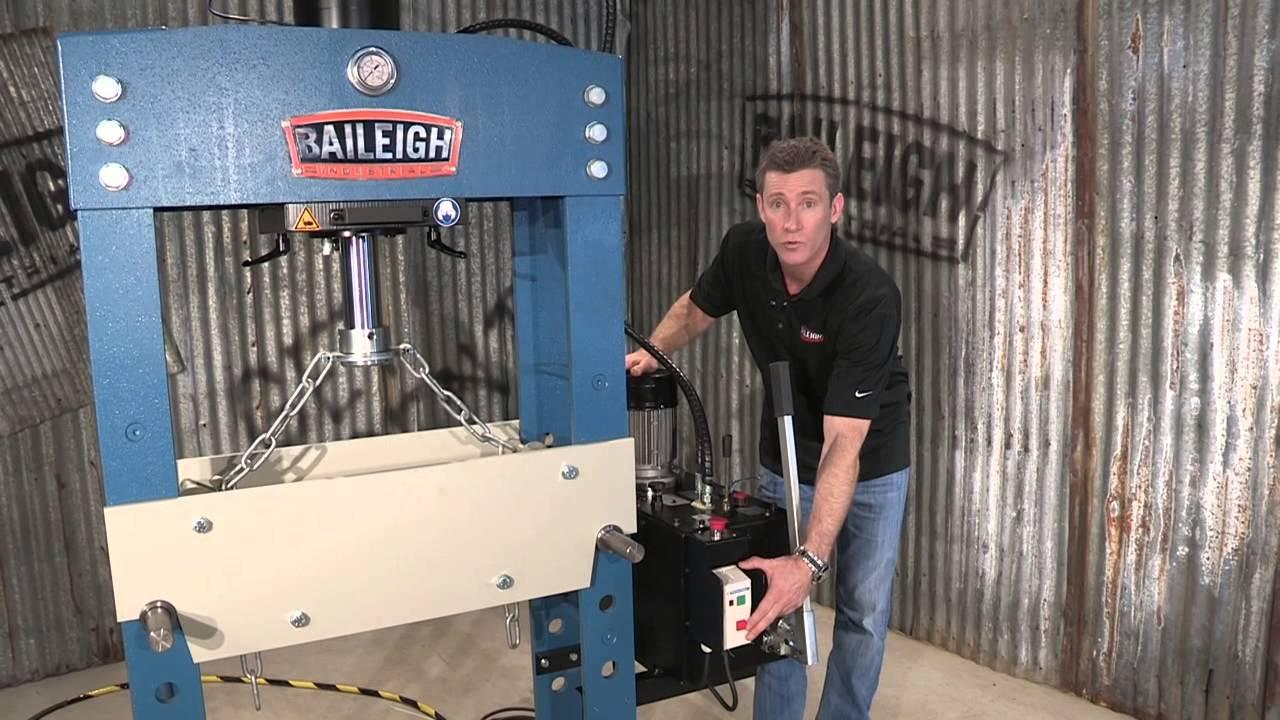 Baileigh Industrial Hsp 66m Hydraulic 66 Ton H Frame Press
