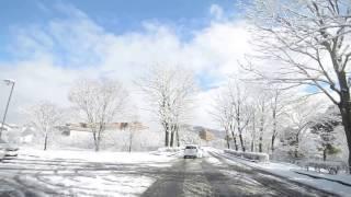 雪の日の広島大学を一周してみた!(2017年1月15日)