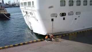 Pacific Princess leaving port Odessa 22/07/2013