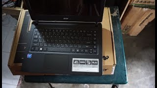 Unboxing Acer Aspire ES1-432 (Intel Celeron Dual core N3350 1,1GHz, 2GB, 500GB) | Student laptop