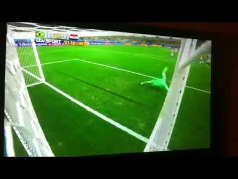 oscar toe punt goal Brazil Vs Croatia 2014 World Cup