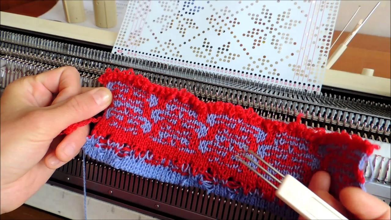 Смотреть вязание на вязальных машинах