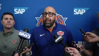 Knicks Training Camp 2019: Coach Fizdale Speaks on Day 2