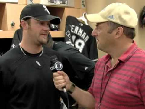 John Danks with Danny Knobler