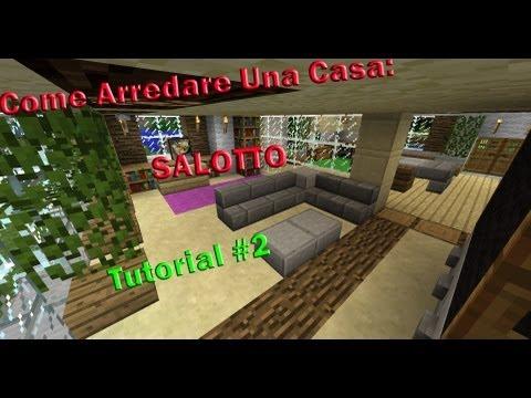 """Minecraft Tutorial v2  """"Come Arredare Una Casa"""" ( Salotto ) #2"""