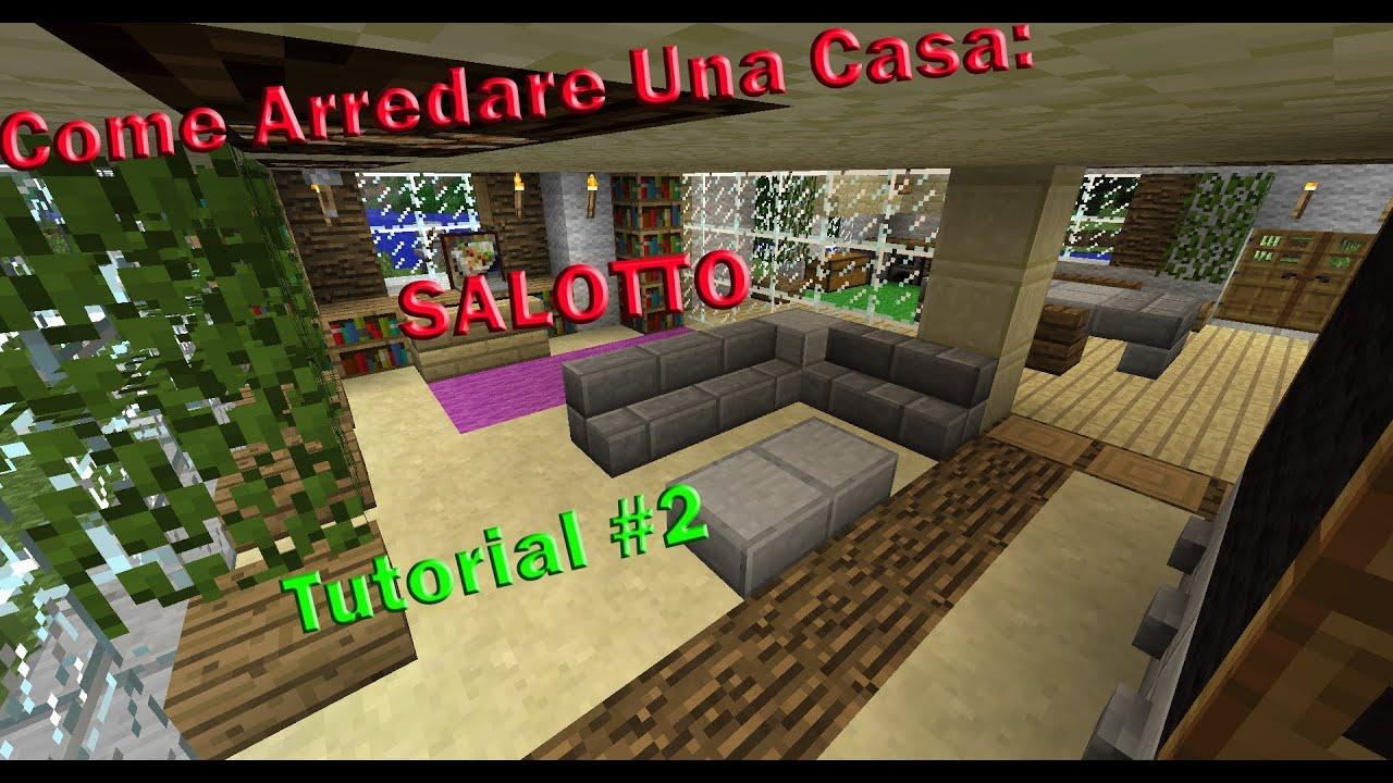 Minecraft tutorial v2 come arredare una casa salotto - Idee per arredare una casa ...