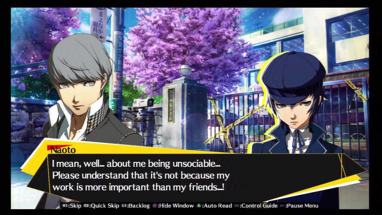 40 Persona 4 Arena Story Walkthrough HD PS3 (Naoto Shirogane - Yu ... Akihiko Persona