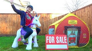 Colorful Unicorn & Play with a Store! Shopping / Hide-and-seek Pretend Play Kids Line
