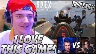 Ninja Plays His FIRST Game Of Apex Legends & LOVES IT! SypherPK & Shroud 1v1!