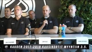2.5.2017 Lehdistötilaisuus: TPS julkisti uuden urheilujohdon ja valmennustiimin