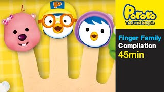 Finger Family and More (45min) | Nursery Rhymes | pororo finger family| Pororo The Little Penguin
