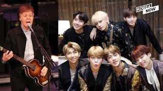 Legendary Beatles member Paul McCartney acknowledges the global power of BTS