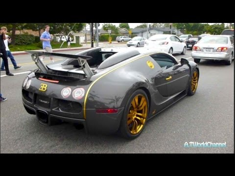 CRAZY Mansory Bugatti Veyron Vincero Acceleration & Sound! Crazy Crowd Shuts Down the Street!